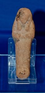 "A very nice Ancient Egyptian Third Intermediate Period terracotta ""Ushabti"" figure from Thebes. SOLD"